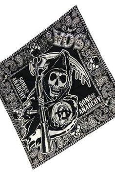Sons of Anarchy Bandana Skull - šátek | Figures.cz