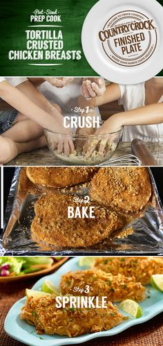 Kids love making this crunchy chicken dinner as much as they love eating it. Country Crock® helps them get hands on while learning that healthy food can be fun.