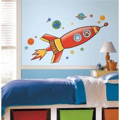 Rocket Peel and Stick Giant Wall Decals, Assorted