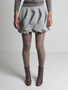 Fabric Manipulation for Fashion - decorative angled pleats; creative sewing inspiration; skirt detail