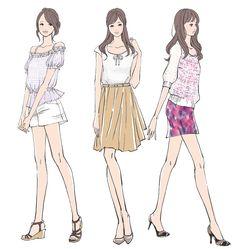 「愛されファッション」レッスン |書籍イラスト|ミヤモトヨシコのガールズイラスト