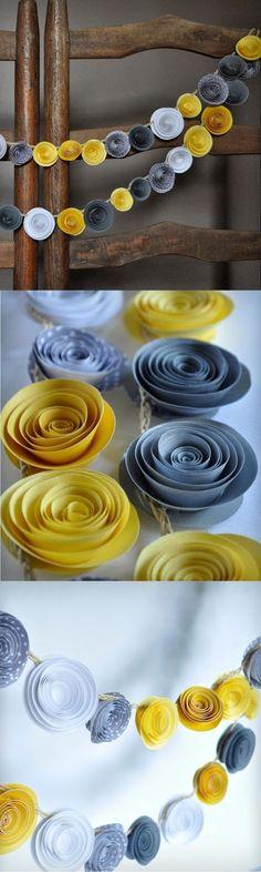 DIY... guirnaldas de flores ~ el país de sarah