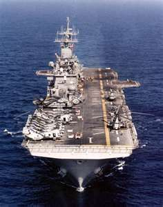 ahhh - my first cruise was on this tug. The USS Wasp.. LHD-1.    26th MEU, BLT 3/8. 1991.