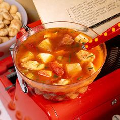 Chicken-and-Roasted Vegetable Chowder | MyRecipes.com #myplate #protein #vegetable