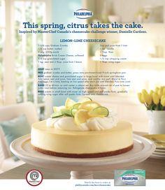 The beautiful winning cheesecake of the MasterChef Canada Cheesecake Challenge #recipe #dessert