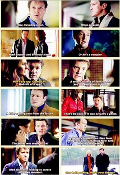 That wild speculation almost always points us to our killer. {gif} #castle