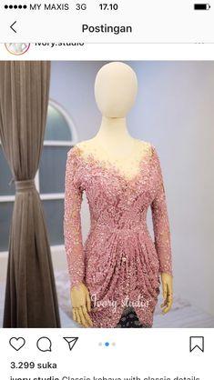 Dress Brokat Muslim, Kebaya Muslim, Model Kebaya, Designer Dresses, Evening Dresses, Iphone, Wallpaper, Style, Fashion