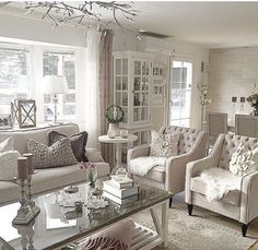 ♡Breakfast at Chloe's♡ Classy Living Room, Simple Living Room Decor, Formal Living Rooms, Living Room Modern, My Living Room, Home And Living, Luxury Interior Design, Interior Design Living Room, Living Room Designs