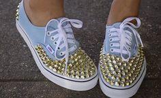 Zapatillas decoradas con chinches, Una idea para mis converse nuevos!