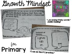 Lisa here, from Growing Firsties & I'm going to share a little bit about Growth Mindset today, which is based on Stanford University psychologist Carol Dweck's work. With a growth mindset, Social Emotional Learning, Social Skills, Growth Mindset Activities, Leadership Activities, Educational Leadership, Educational Technology, Habits Of Mind, 7 Habits, Visible Learning