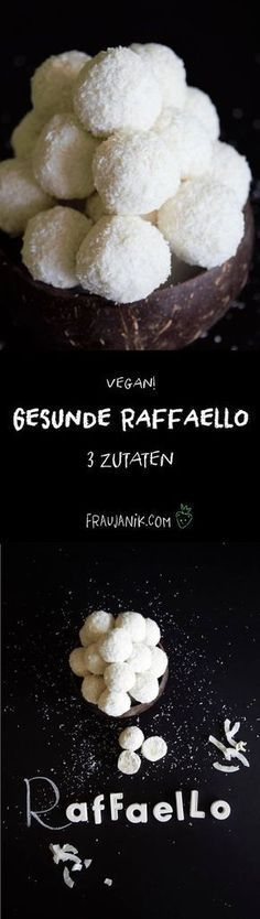 healthy Raffaello - cake for children - # for . - healthy raffaello – cake for children – - Vegan Sweets, Healthy Sweets, Healthy Snacks, Low Carb Desserts, Health Desserts, Raw Food Recipes, Healthy Recipes, Paleo Dessert, Dessert Recipes