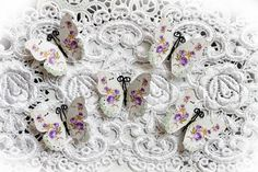 Just Listed!!  Now, the original Shabby Lavender Roses Glitter Glass Butterflies come in a sweet, small size that are perfect for scrapbooking, cardmaking, tags, mini albums, weddings or altered item applications called Reneabouquets Tiny Treasures.   http://www.reneabouquets.com/#!product/prd1/2524119051/tt-shabby-lavendender-roses-butterfly-set