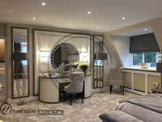 Contemporary interior designer - One-stop solution for contemporary interior design and luxury living. Interior Design London, Contemporary Interior Design, Luxury Interior Design, Interior Stylist, Dressing Table, Luxury Living, Modern, Furniture, Home Decor