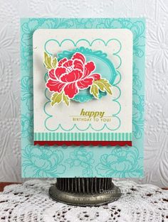 Make It Monday #55: Creating Large Frames with Smaller Frame Stamps by Dawn McVey for Papertrey Ink (February 2012)