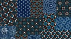 Blue hues in African interiors and decor African Textiles, African Fabric, Impala Animal, African Interior, Contemporary African Art, Africa Art, Moody Blues, Fabric Crafts, Fiber Art