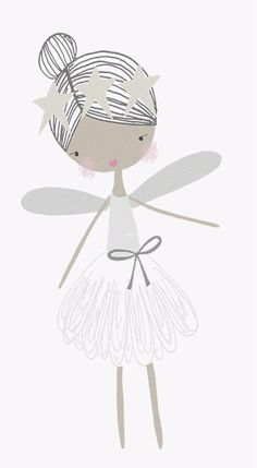 fairy | vickyriley Kids Prints, Art Prints, Illustrations, Cute Illustration, Nursery Art, Cute Drawings, Painting & Drawing, Cute Pictures, Cute Images