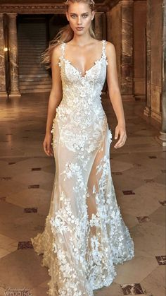 Rustic Wedding Dresses, Wedding Dress Trends, Elegant Wedding Dress, Dream Wedding Dresses, Bridal Dresses, Wedding Gowns, Trendy Wedding, Sheath Wedding Gown, Ivory Wedding
