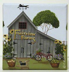 catherine holman paintings | Catherine Holman Folk Art: Autumn is on it's way!