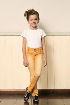 M2A Jeans   Fall Winter 2014   Kids Collection   Outono Inverno 2014   Coleção Infantil   peças   camiseta branca infantil; calça color infantil.