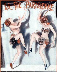 Flapper Parisienne Art Print 8 x 10 - Jazz Age - Art Deco - Dancers Burlesque