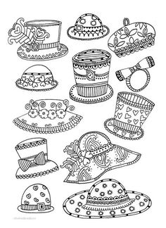 hats coloring pages 43 Best painting templates hats images | Colouring pages, Painting  hats coloring pages