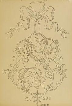 Elisabetta ricami a mano: Monogramming etiquette Embroidery Alphabet, Embroidery Monogram, White Embroidery, Ribbon Embroidery, Embroidery Stitches, Embroidery Designs, Monogram Design, Monogram Fonts, Monogram Letters