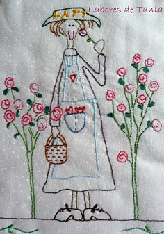 Crewel embroidery employs this interesting Jacobean design, where we use a long & short soft shading in four colors to introduce the gradient into the embroidery texture. Crewel Embroidery, Hand Embroidery Patterns, Vintage Embroidery, Silk Ribbon Embroidery, Embroidery Designs, Red Brolly, Primitive Stitchery, Fabric Journals, Embroidery Techniques