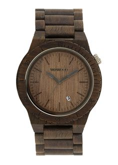 WeWOOD Watches are attractive, fashionable wood watches that merge nature and style into a beautiful wooden timepiece. Wood Store, Wooden Watch, Wooden Jewelry, Michael Kors Watch, Watches For Men, Men's Watches, Chocolate, Stuff To Buy, Jewelry Watches
