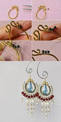 nice DIY Bijoux - Beaded hoop earrings, LC.Pandahall.com will release the tutorial soon....