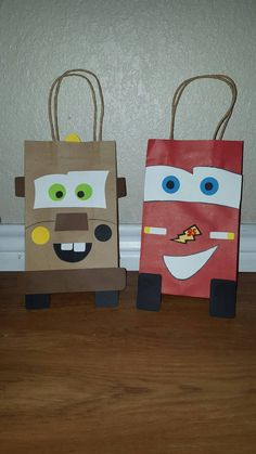 10 Lightning McQueen and Mater Party Favor Bags by EJsCreation                                                                                                                                                                                 More