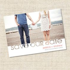 Camryn Printable Save the Date Card by  Petite Papier on Etsy