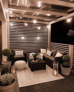 Design Patio, Backyard Patio Designs, House Design, Patio Ideas, Diy Patio, Wood Patio, Outdoor Rooms, Outdoor Living, Outside Living