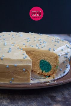 Bubble Surprise Cake - A gorgeous butter cake with giant coloured polka dots inside!!