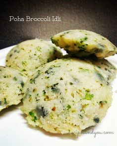 Recipes Breakfast Indian A perfect and healthy Indian breakfast recipe.Broccoli Poha Idli is a savory steamed cakes recipe made with flattened rice and broccoli. Good Healthy Recipes, Healthy Breakfast Recipes, Baby Food Recipes, Indian Food Recipes, Vegetarian Recipes, Cooking Recipes, Cooking Beef, Indian Snacks, Cooking Ideas