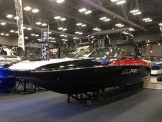 The Supra SA 350 looking hot! #atxboatshow #supraboats