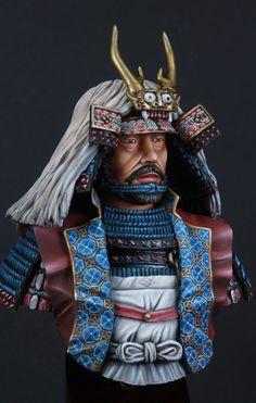 Takeda Shingen ) by Marc Mussat · Putty&Paint Takeda Shingen, Anglo Saxon History, Tokugawa Ieyasu, Fantasy Heroes, Samurai Armor, Military Figures, Korean Art, Asian Art, Military Modelling