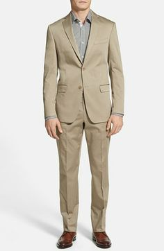 Michael Kors Trim Fit Stretch Cotton Suit available at #Nordstrom