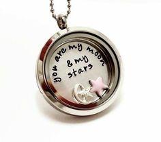 Living Locket Necklace  Floating Charm Locket by ImprintedDesigns