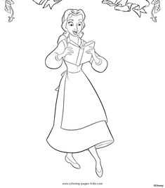 disney coloring pages, color plate, coloring sheet, printable coloring picture, Beauty and the Beast