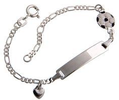 ID Armbänder für kleine Torjäger - echt 925 Silber