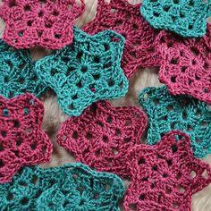 Christmas crochet stars.