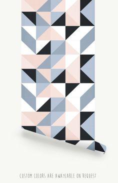 Kaleidoscope graphique pépinière papier peint mur par LivettesKIDS