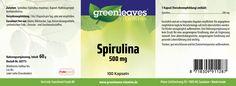 EtikettSpirulina 500 mg