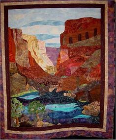 Canyon Walls by Sheila Groman. Quilt Inspiration: 2010 Arizona Quilt Show