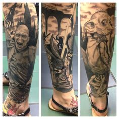 Dobby will always have a sock within reach thanks to this <i>Harry Potter</i> tattoo.