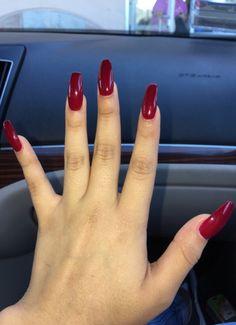 Red long nails Sexy Nails, Nice Nails, Long Red Nails, Nail Colour, Color, Red Manicure, Dream Nails, Beauty Bar, Nail Inspo