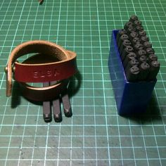 Leather bracelets with custom inisial