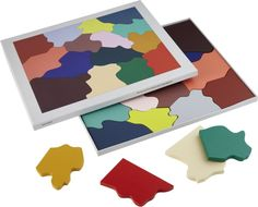 Shop wooden color puzzle.   Wooden puzzle by Swedish designer Clara Von Zweigberk looks like an animated watercolor painting—perfect for tabletop decor.