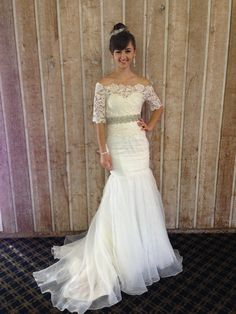 elyseREUBEN Custom Couture Bridal Styled by:Sandra Nicole Designs Wedding Gowns With Sleeves, Wedding Dresses, Bridal Style, Couture Bridal, Boat Neck, Lace, Cookies, Design, Food