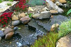 learn how to build a garden stream with the step by step instructions